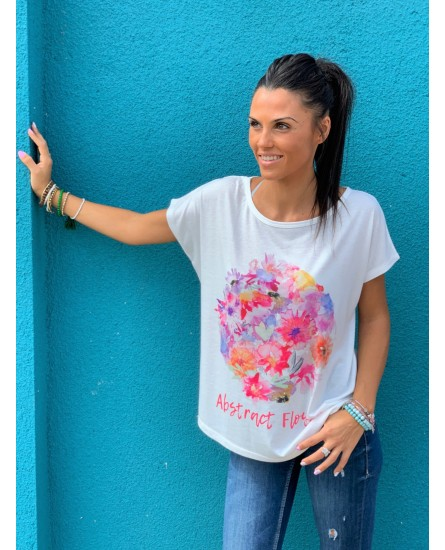 Camiseta flores abstract
