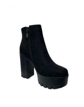 botines de plataforma mujer negros