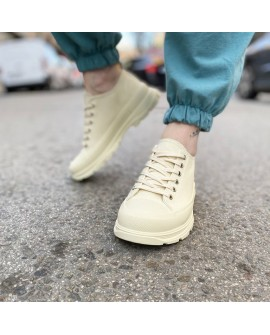 sneakers mujer beige creme