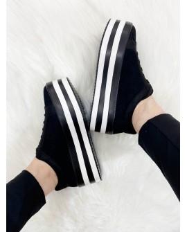 Sneakers plataforma negres