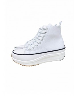 Zapatillas Abotinadas Blancas
