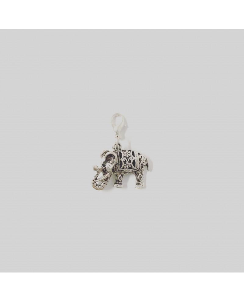 Charm Elefante metal con mosquetón