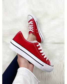 Zapatillas Plataforma Rojas