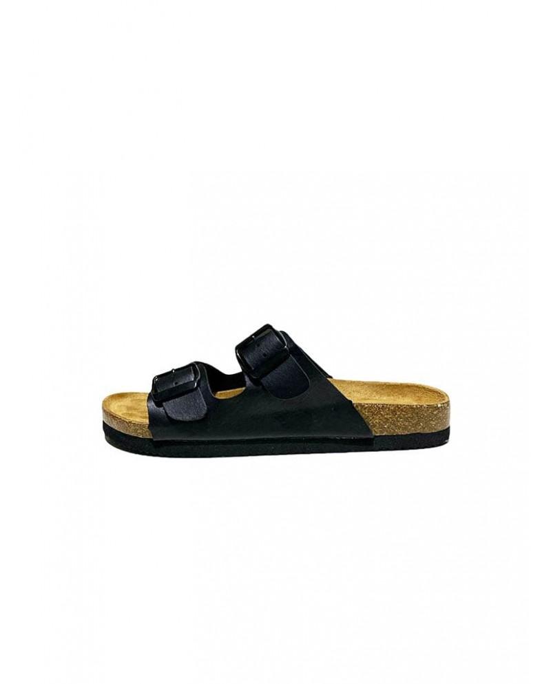 sandalias hebillas negras