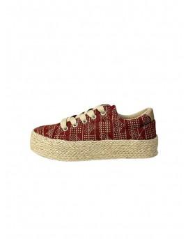 sabates lona vermelles dona