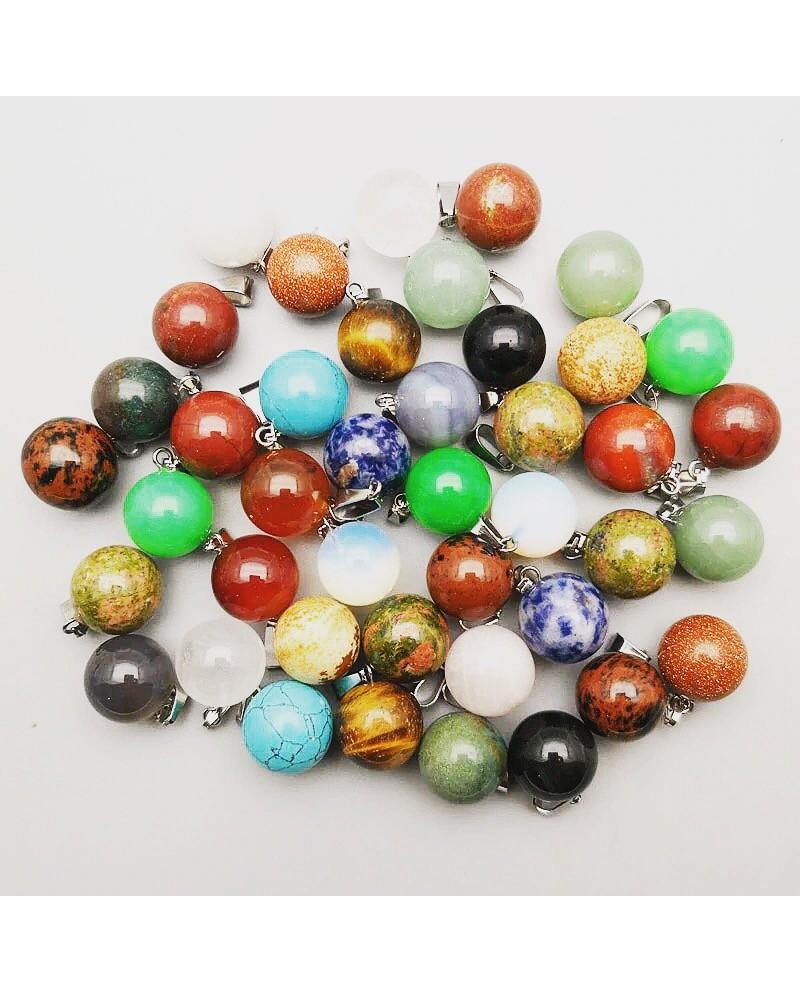 Piedra bola para tus collares mixed 5 piezas x 10€