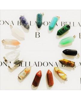 Piedras péndulo para collares, mixed 5 piezas x 10€